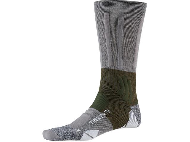 X-Socks Trek Path Socks Men dolomite grey/forest green